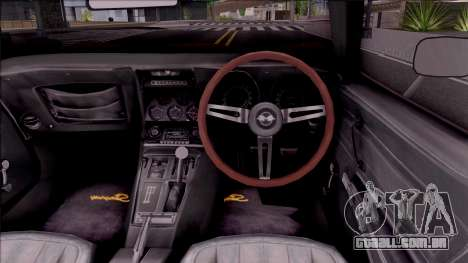 Chevrolet Corvette C3 Stingray para GTA San Andreas vista interior