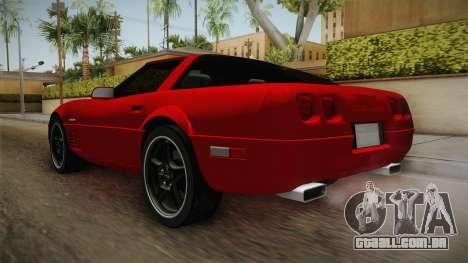 Chevrolet Corvette C4 FBI 1996 para GTA San Andreas traseira esquerda vista