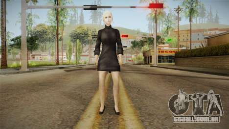 Female Black Sweater One Piece v1 para GTA San Andreas