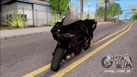 Kawasaki Ninja H2 2017 para GTA San Andreas esquerda vista
