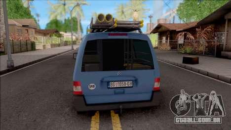 Citroen Berlingo Mk2 Van para GTA San Andreas traseira esquerda vista