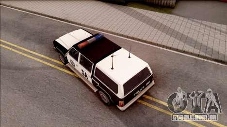 Police Rancher 4 Doors para GTA San Andreas vista traseira