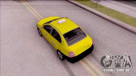 Hyundai Accent Taxi Colombiano para GTA San Andreas