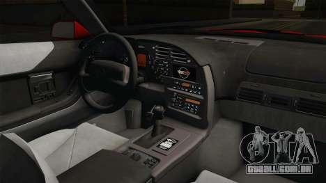 Chevrolet Corvette C4 FBI 1996 para GTA San Andreas vista interior