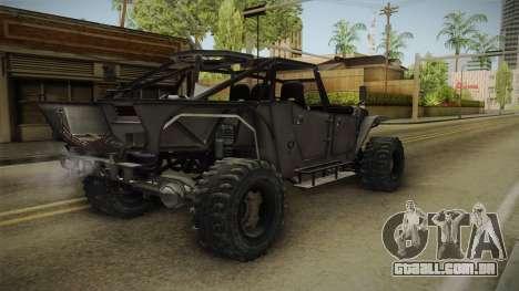 Ghost Recon Wildlands - Unidad AMV No Minigun v2 para GTA San Andreas traseira esquerda vista
