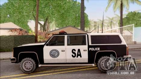 Police Rancher 4 Doors para GTA San Andreas esquerda vista