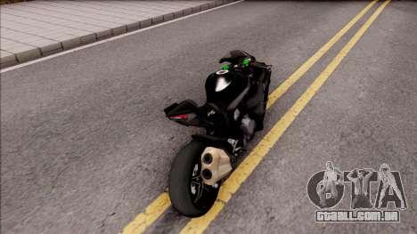 Kawasaki Ninja H2 2017 para GTA San Andreas traseira esquerda vista
