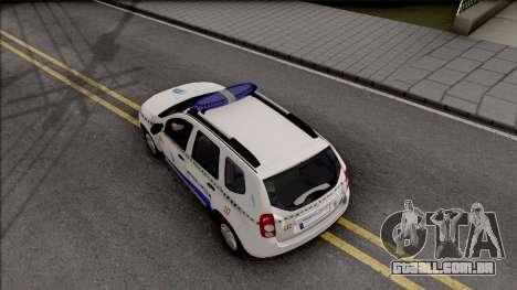 Renault Duster Spanish Police para GTA San Andreas vista traseira