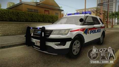 Ford Explorer 2016 YRP para GTA San Andreas