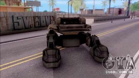 Mobile Art-Installation COD: Advance Warfare para GTA San Andreas traseira esquerda vista