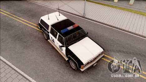 Police Rancher 4 Doors para GTA San Andreas vista direita