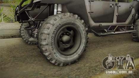 Ghost Recon Wildlands - Unidad AMV No Minigun v2 para GTA San Andreas vista traseira