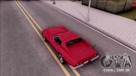 Chevrolet Corvette C3 Stingray para GTA San Andreas vista traseira