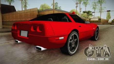 Chevrolet Corvette C4 FBI 1996 para GTA San Andreas esquerda vista