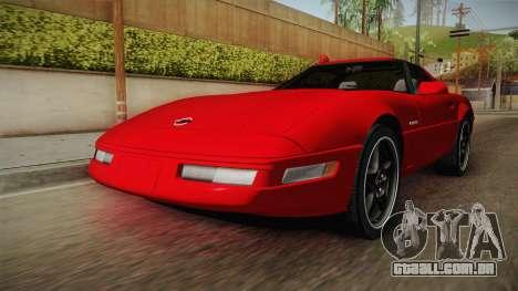 Chevrolet Corvette C4 FBI 1996 para GTA San Andreas vista direita
