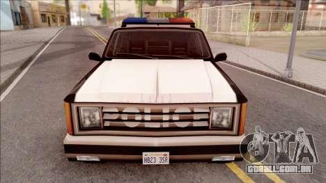 Police Rancher 4 Doors para GTA San Andreas vista interior