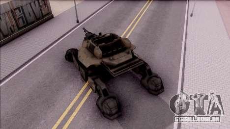 Mobile Art-Installation COD: Advance Warfare para GTA San Andreas vista traseira