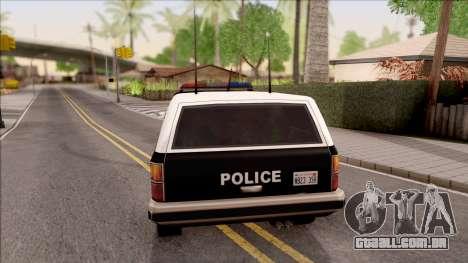 Police Rancher 4 Doors para GTA San Andreas traseira esquerda vista