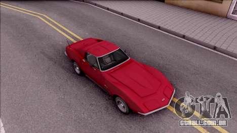 Chevrolet Corvette C3 Stingray para GTA San Andreas vista direita