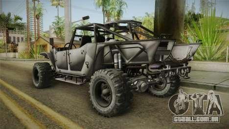 Ghost Recon Wildlands - Unidad AMV No Minigun v2 para GTA San Andreas esquerda vista