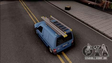Citroen Berlingo Mk2 Van para GTA San Andreas vista traseira