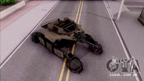 Mobile Art-Installation COD: Advance Warfare para GTA San Andreas vista direita