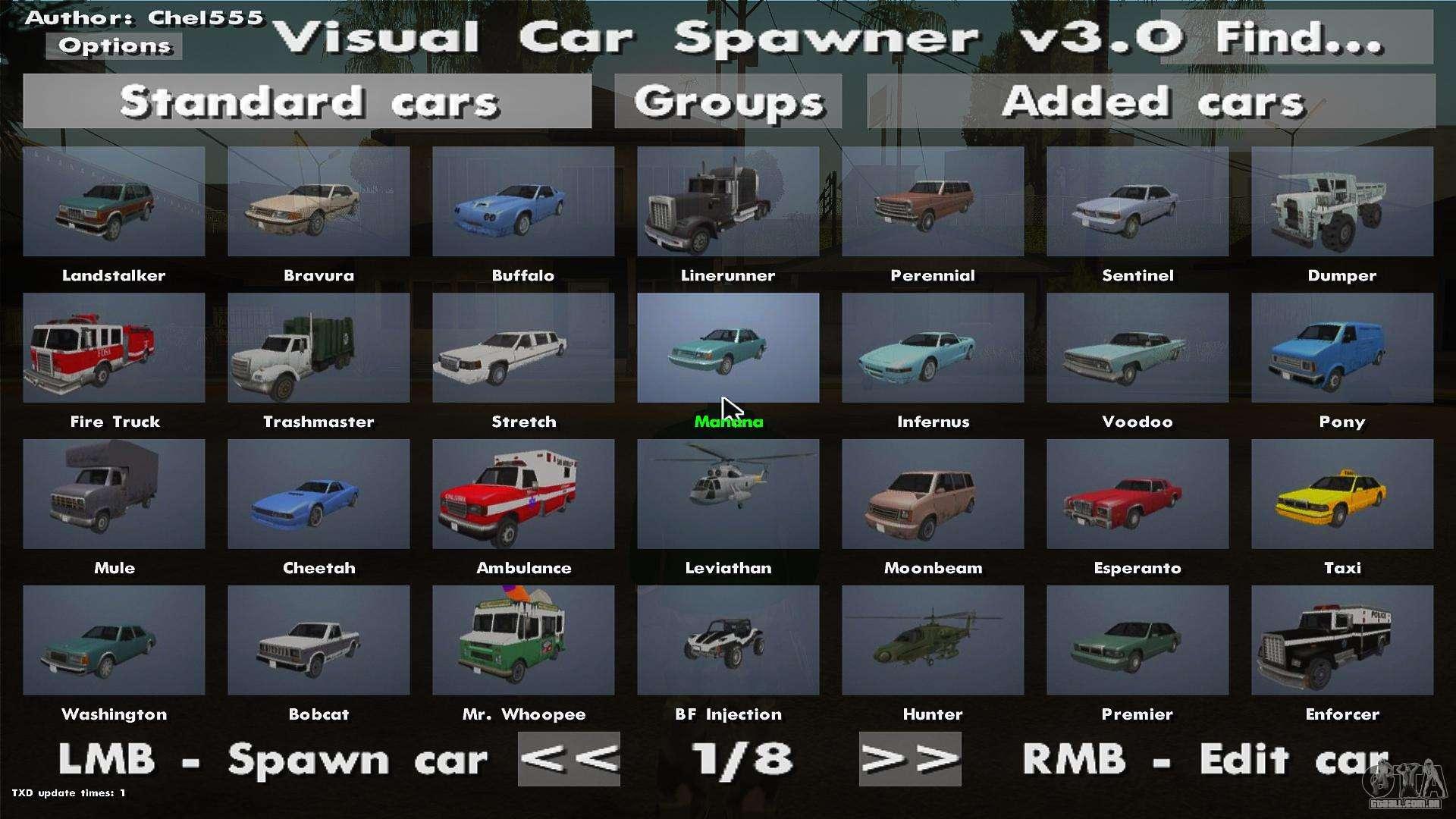 Mod Gta Sa Pc Car Spawner