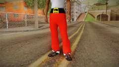 Calças vermelhas Papai Noel
