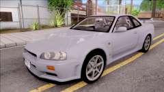 Nissan Skyline GT-R R34 Vspec Stock para GTA San Andreas