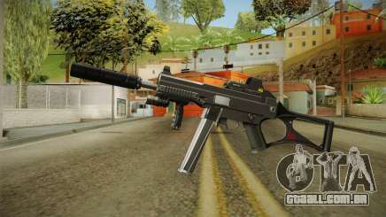 MP5 Grey Chrome para GTA San Andreas
