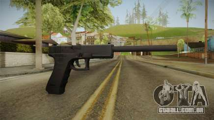 Glock 18 3 Dot Sight with Long Barrel para GTA San Andreas