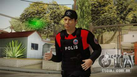 Turkish Police Officer with Kevlar Vest para GTA San Andreas