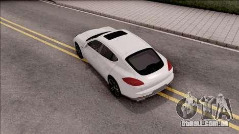 Porsche Panamera GTS para GTA San Andreas vista traseira