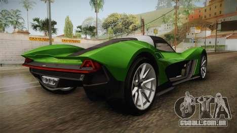 GTA 5 Dewbauchee Vagner IVF para GTA San Andreas traseira esquerda vista