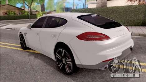 Porsche Panamera GTS para GTA San Andreas esquerda vista