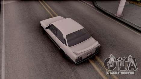 Chevrolet Chevette SLE 88 para GTA San Andreas vista traseira