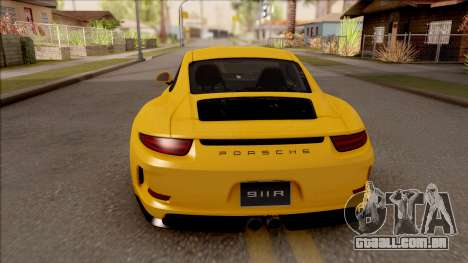 Porsche 911 R para GTA San Andreas traseira esquerda vista
