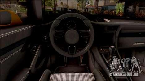 Porsche 911 R para GTA San Andreas vista interior