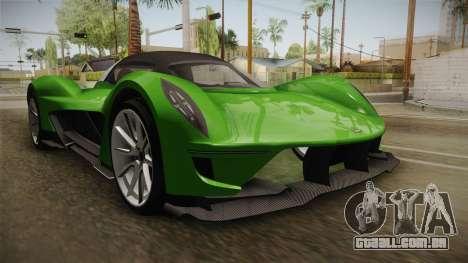 GTA 5 Dewbauchee Vagner IVF para GTA San Andreas vista direita