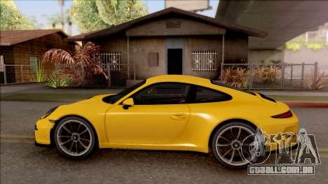 Porsche 911 R para GTA San Andreas esquerda vista