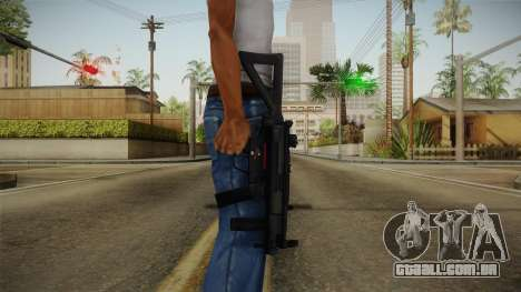 Mirror Edge HK MP5K-PDW para GTA San Andreas terceira tela
