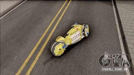 Dodge Tomahawk Gold para GTA San Andreas traseira esquerda vista