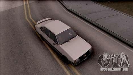 Chevrolet Chevette SLE 88 para GTA San Andreas vista direita