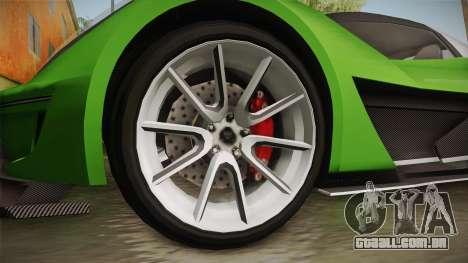 GTA 5 Dewbauchee Vagner IVF para GTA San Andreas vista traseira