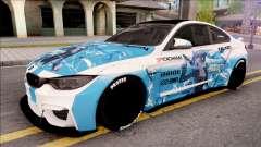 BMW M4 Itasha Hatsune Miku 2017 Liberty Walk para GTA San Andreas