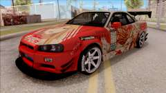 Nissan Skyline GT-R R34 RB Itasha Yuuki Asuna para GTA San Andreas