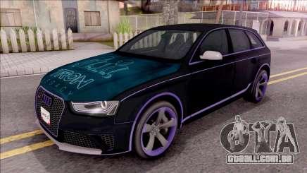 Audi RS4 Avant Edition Tron Legacy para GTA San Andreas