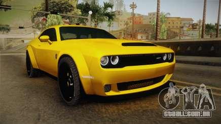 Dodge Challenger Demon 2018 para GTA San Andreas