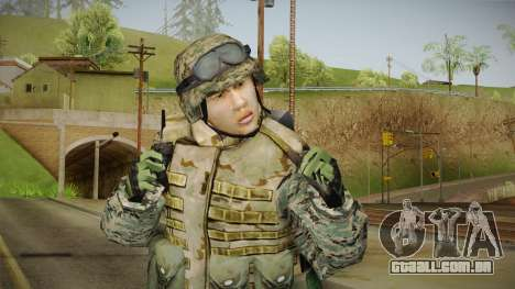 Georgian Soldier Skin v2 para GTA San Andreas