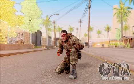 Zombie Degtyarev do S. T. A. L. K. E. R. para GTA San Andreas quinto tela